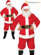 Mens Santa Claus Costume Father Christmas Fancy Dress Budget Outfit Suit Adult