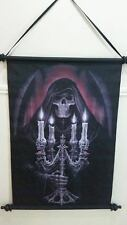 ANNE STOKES CANDELABRA SCROLL WITH WOODEN ENDS WALL ART HANGER HOME DECOR