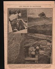 WWI British Army Macedonia ancient archeology Trench Macédoine 1916 ILLUSTRATION