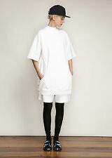 Acne Studios SS15 Optic White Velika Dress Oversized Size S Heavyweight