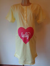 EMMA JANE MATERNITY & NURSING LEMON BABY HEART NIGHTIE NIGHTDRESS SIZE 10-12 NEW