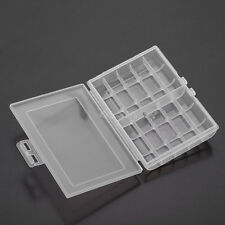 Nice 1x Hard Plastic Battery Case Box Holder Storage for 10 AA/AAA Batteries JX