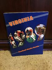 1989 VIRGINIA Cavaliers COLLEGE FOOTBALL MEDIA GUIDE box9