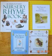 Beatrix Potter Nursery Rhyme Book Peter Rabbit Picture Books Lot of 4 HC