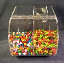 "Bulk food/ candy cereal nuts spices double bin 9"" wide with scoop. 3/16 acrylic"