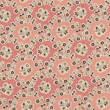 RJR Chocolate & Bubble Gum Pink Brown Floral Vine Civil War Fabric 2724-001 BTY