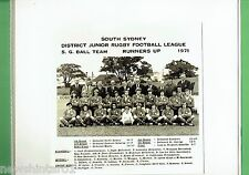 #T102.  SOUTH SYDNEY JUNIOR RUGBY LEAGUE PHOTO - 1971 S.G.  BALL RUNNERS UP