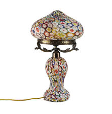 Murano Millefiori Art Glass & Brass Mounted Table Lamp, Possibly Toso. c1940