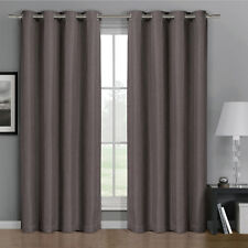 "Gulfport 52"" X 84"" Grommet Faux Linen Blackout Window Curtains Single Panel"