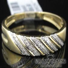 MEN'S NEW 10K YELLOW GOLD GENUINE REAL DIAMOND WEDDING ANNIVERSARY RING BAND 5MM