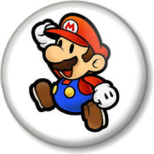 "Super Mario Brothers Mario 1"" 25mm Pin Button Badge Bros Nintendo Video Game"