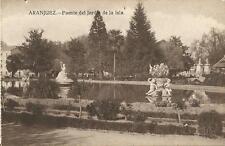Tarjeta Postal ARANJUEZ. Fuente del Jardín de la Isla.