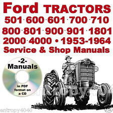Ford Tractor 501 600 601 700 701 800 801 900 901 1801 SERVICE & SHOP -2- MANUALS