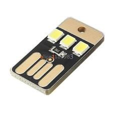 10PCS Card Lamp Bulb Led Keychain Mini LED Night Light Portable USB Power White