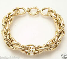 Bold Modified Gucci Anchor  Corinthian Link Bracelet Real 14K Yellow Gold 21.2gr