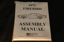 1971 PONTIAC FIREBIRD ASSEMBLY MANUAL 100'S OF PAGES OF PICTURES, PART NUMBERS &