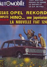 L'automobile Sport Mecanique 241 - opel rekord hino / fiat 124 -