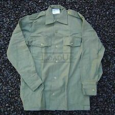 British Military M37 WOOL L/S SHIRT Olive 38cm 44-Chest NEW
