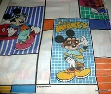 Mickey Mouse Disney Skateboard Radio Boombox Car Full Size Flat Sheet 80's Vtg