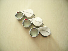 3PCS 10x 20x 30x21mm glass Loop Magnifier Jeweler Loupe