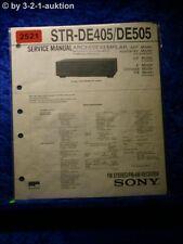 Sony Service Manual STR DE405 / DE505 Receiver (#2521)