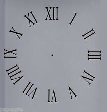 "Clock Stencil Roman Numerals 11"" by 11"" Free Ship!"