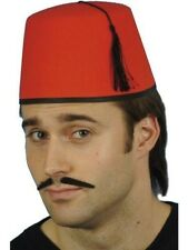 Adult Red Fez Hat Turkish Moroccan Unisex Fancy Dress Stag Do Tommy Cooper Fun