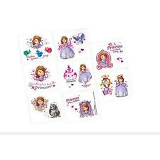 16 Disney Sofia the First Childrens Birthday Party Loot Favor Tattoos Sheet