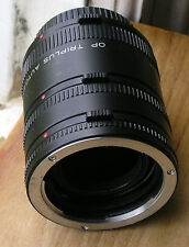 Olympus OM (film camera) fit Auto extension Tubes ,made in  japan badged triplus