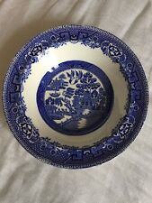 Vintage Alfred Meakin old willow pattern Dish China  bowl 165mm diameter