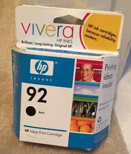 Genuine HP INK cartridge 92 Black Vivera NIP Factory sealed Install By May 2008