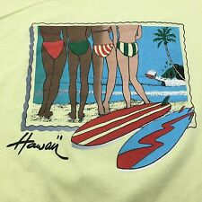 VTG 80s HAWAII Beach BIKINI Babe M Scenic SURF T Shirt Surfer SKATEBOARD