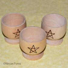 Pentacle Wooden Egg Cup - Pagan Gift, Wicca, Kitchen Witch, Pyrographed