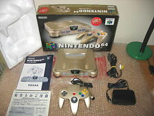NINTENDO 64 CONSOLE GOLD LIMITED COMPLETE IMPORT JAP!