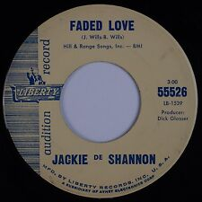 JACKIE DE SHANNON: Faded Love USA '62 Liberty Teen Pop PROMO DJ Audition 45