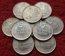 POLAND SET OF COINS 10 ZL 50 YEARS OF HARBOR OF GDYNIA 1972 YEAR ONE PIECE LOT