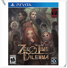 PSV Zero Escape: Zero Time Dilemma SONY PlayStation VITA Adventure Aksys Games