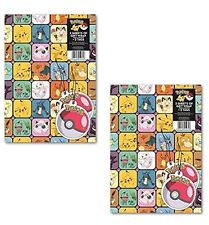 Pokemon Gift Wrap Wrapping Paper 2x Tags x2 Sheets Double Pack