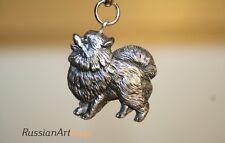 Keychain (Key ring) figurine Pomeranian dog