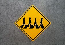 "ABBEY ROAD CROSSING SIGN   /   BEATLES COLLECTOR'S PLAQUE - 16"" X 16"" ALUMINUM"