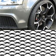 100×33cm Black Aluminum Car Vehicle Universal Body Grille Mesh Section Grill Net