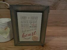 East Of India Family Apart Miles Distance Love Sign Gift Shabby Chic Wooden
