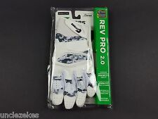 Cutters S451 Rev Pro Special Edition 2.0 White and Camo Adult XL Football Gloves