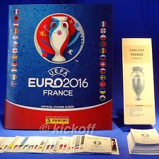 Panini EURO France 2016: Empty Album and 100+ stickers. NEW. Unique Checklist