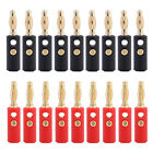 Lot 20pcs Gold Plated Audio Speaker Wire Cable Banana Plug Connector Adapter 4mm