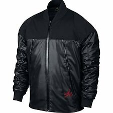 NIKE Air Jordan MENS XXL 2XL AJ XI Pinnacle Full Zip Jacket Black Red 777495-010