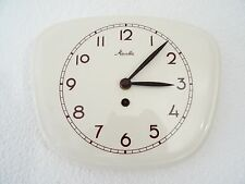 Mauthe White Retro Vintage Ceramic Kitchen German Wall Clock (Junghans era)