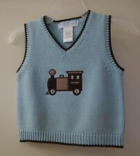 Brand New  Janie and Jack All Aboard Sweater Vest ~ Boy's Size 3-6M
