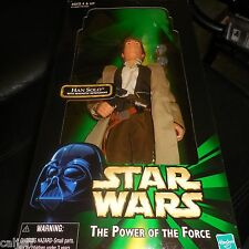 "STAR WARS THE POWER OF THE FORCE 12"" FIGURE HAN SOLO & MAGNETIC DETONATORS POTF"
