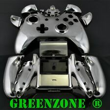 Black Chrome Xbox One Replacement Custom Controller Shell Mod Kit with Buttons